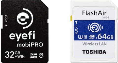 Toshiba FlashAir W-04 vs Eyefi Mobi Pro | The Machine Planet